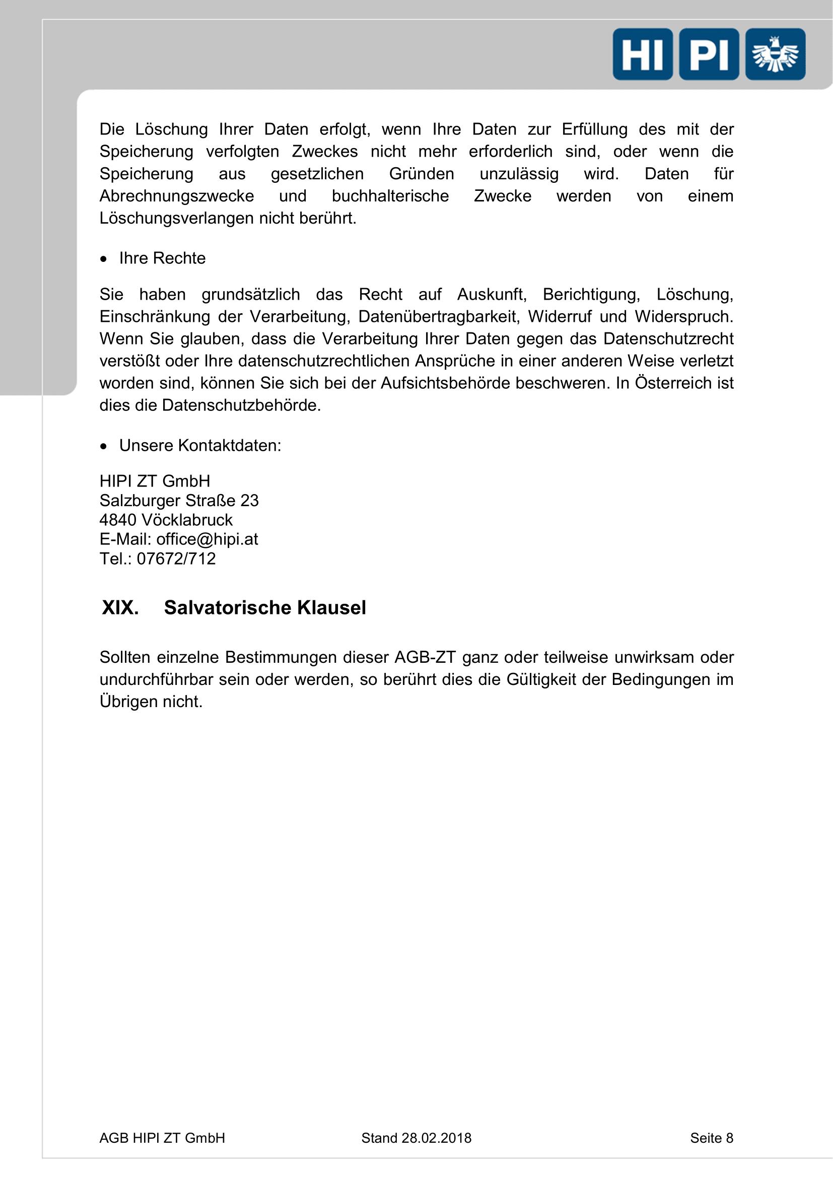 HIPI ZT GmbH AGB Seite 8