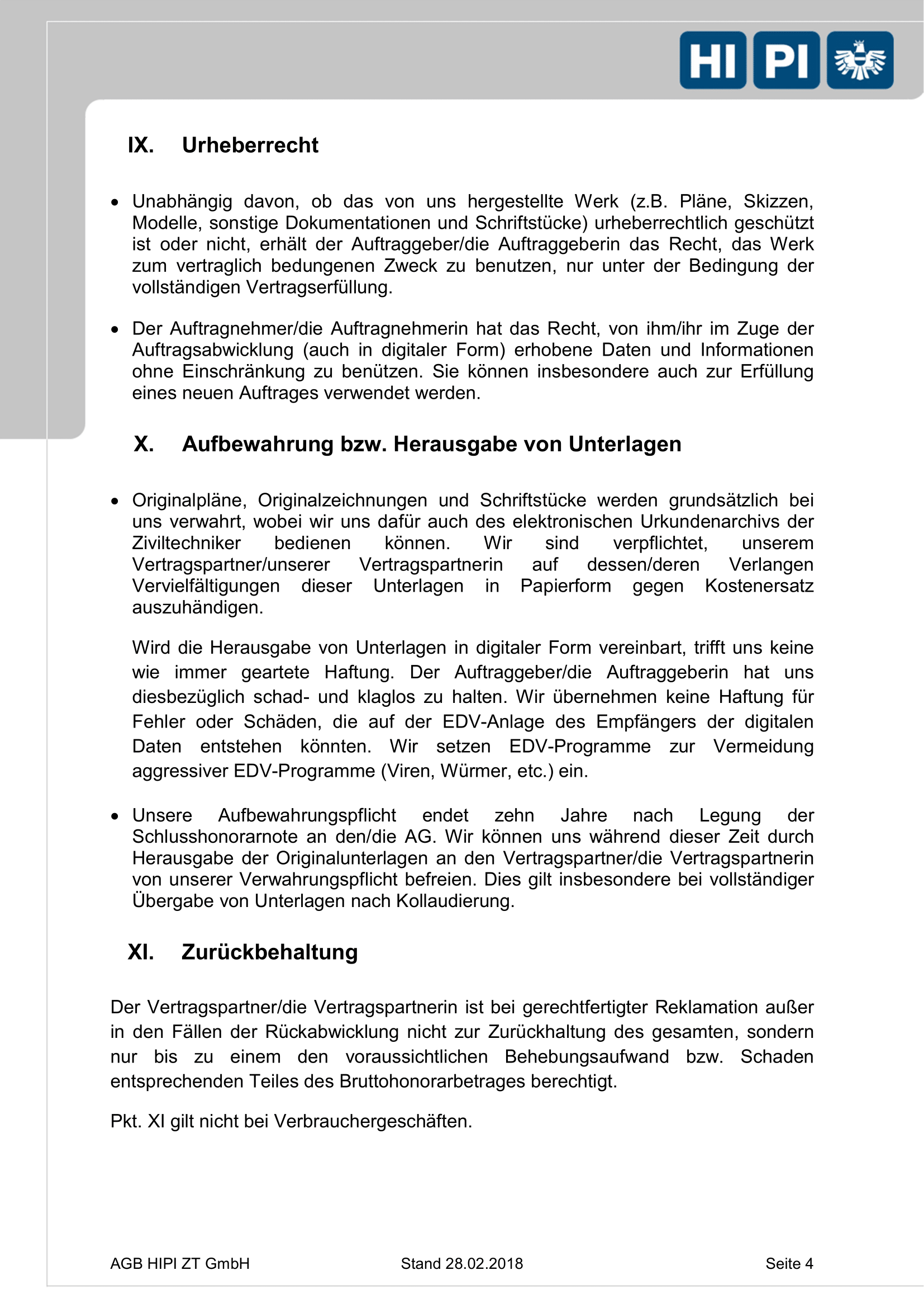 HIPI ZT GmbH AGB Seite 4