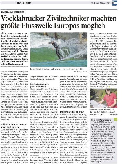 Größte Flusswelle Europas