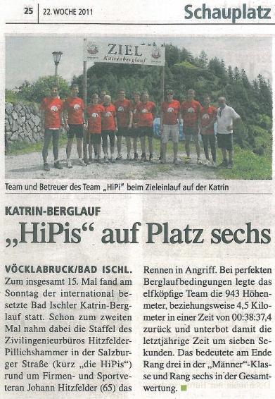 Katrin-Berglauf - HIPIs auf Platz 6