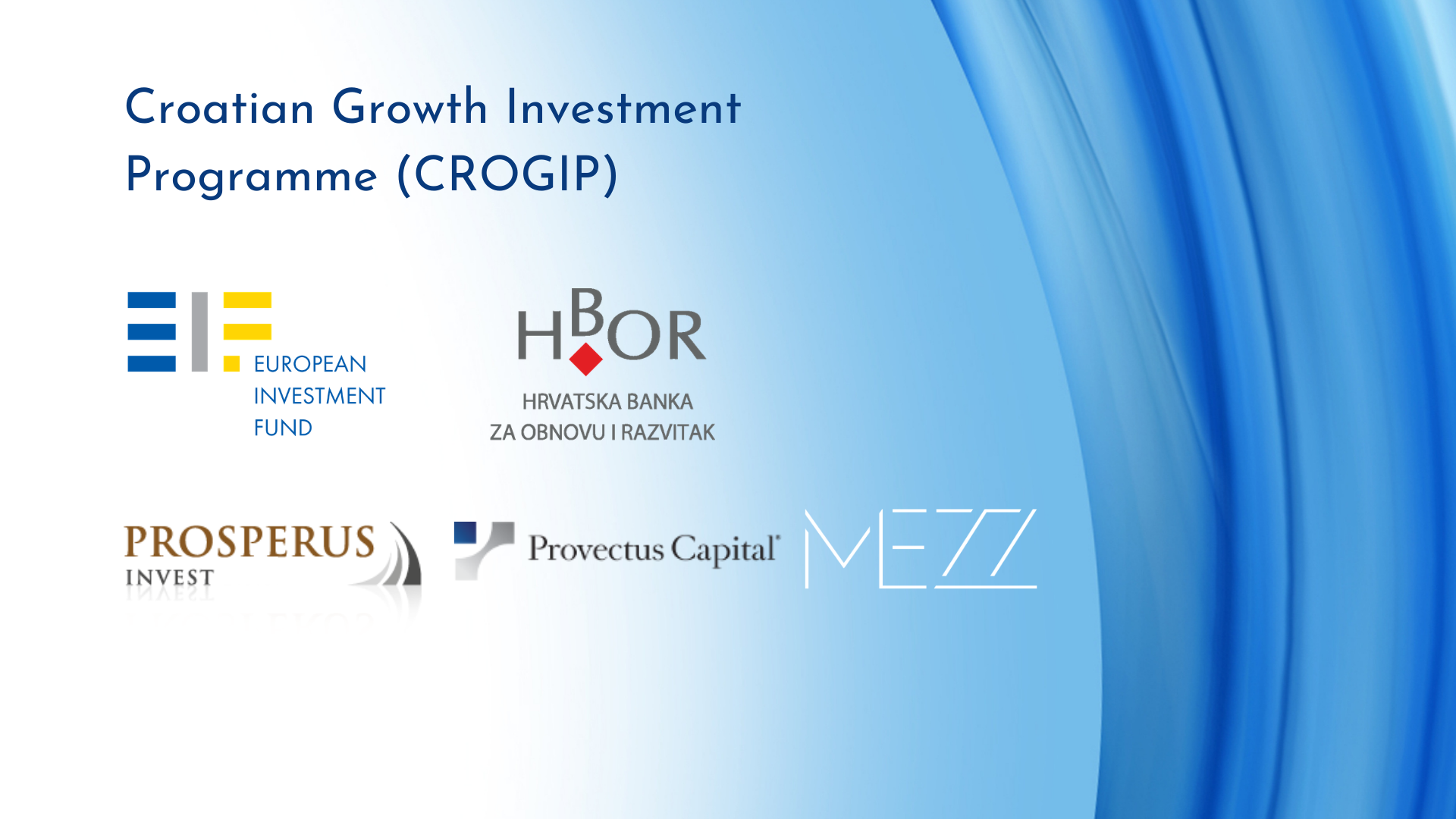 EIF and HBOR invest in three equity funds in Croatia unlocking potential €205 million for local SMEs and Mid-Caps