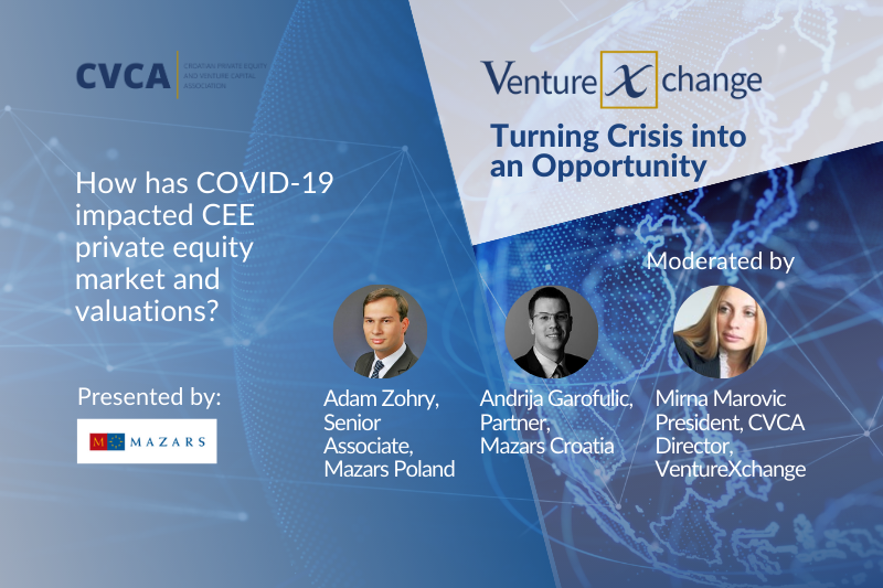 How has COVID-19 impacted CEE private equity market and valuations?