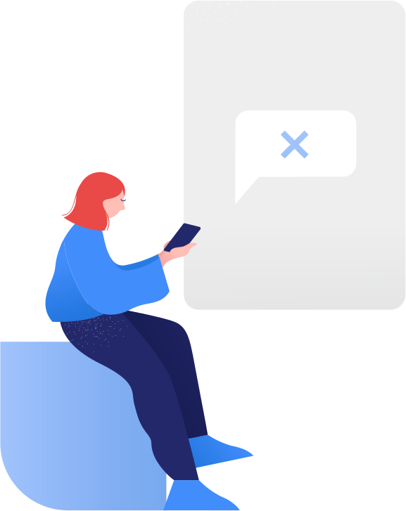 Illustration of person texting