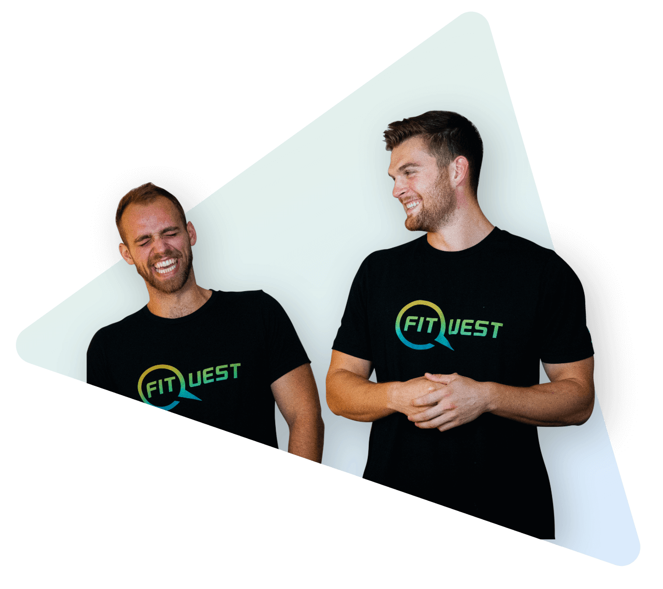 Braden Mosley and Ben Hermann FitQuest brand strategy laughing