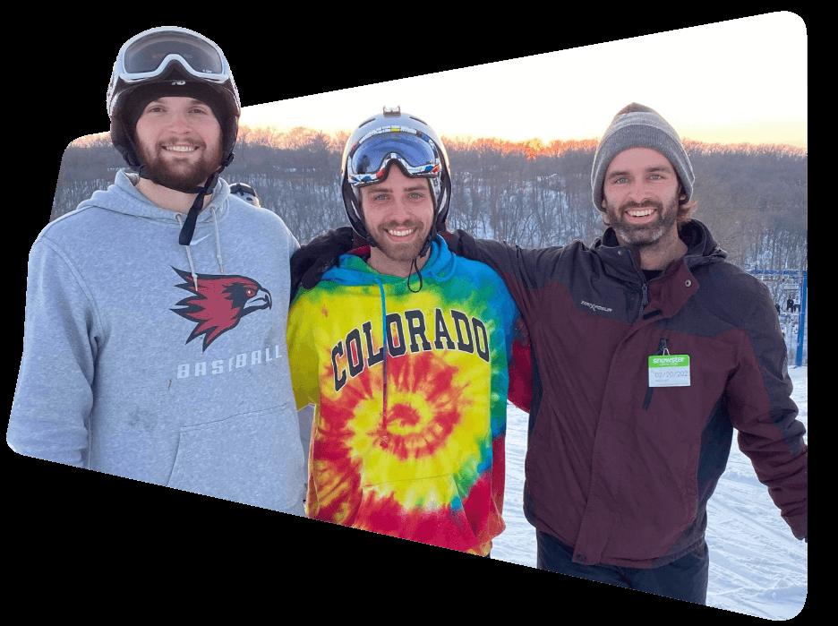 Braden Mosley Ben Hermann Travis Meier skiiing snowboarding FitQuest brand strategy
