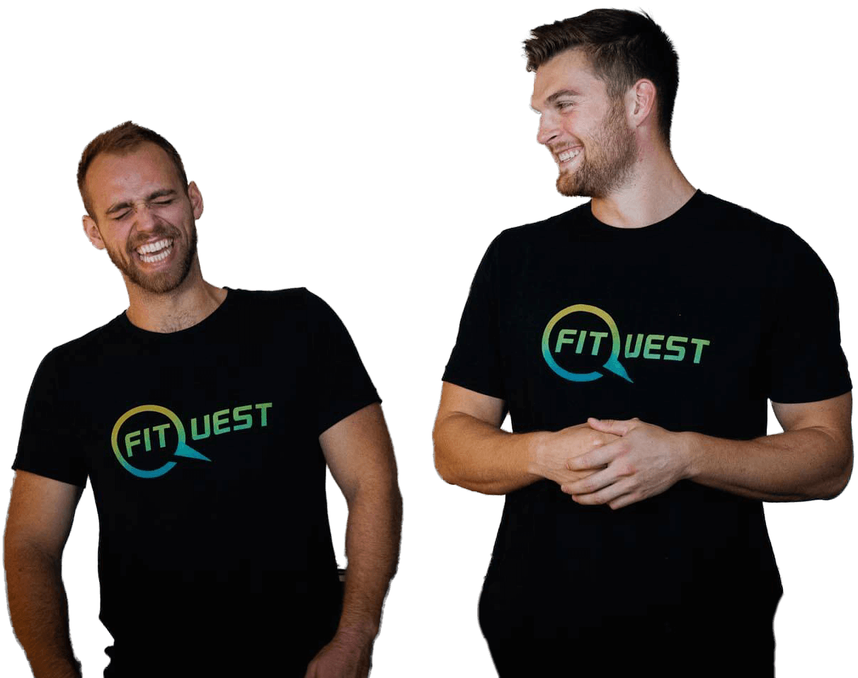 Braden Mosley and ben Hermann brand strategy fitquest laughing smiling