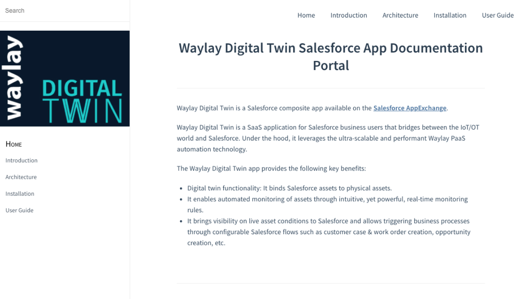 Waylay Digital Twin Documentation Portal