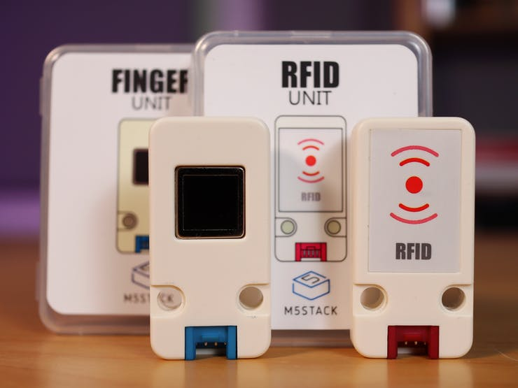 M5Stack's Finger Print Sensor Unit and Mini RFID Reader/Writer Unit