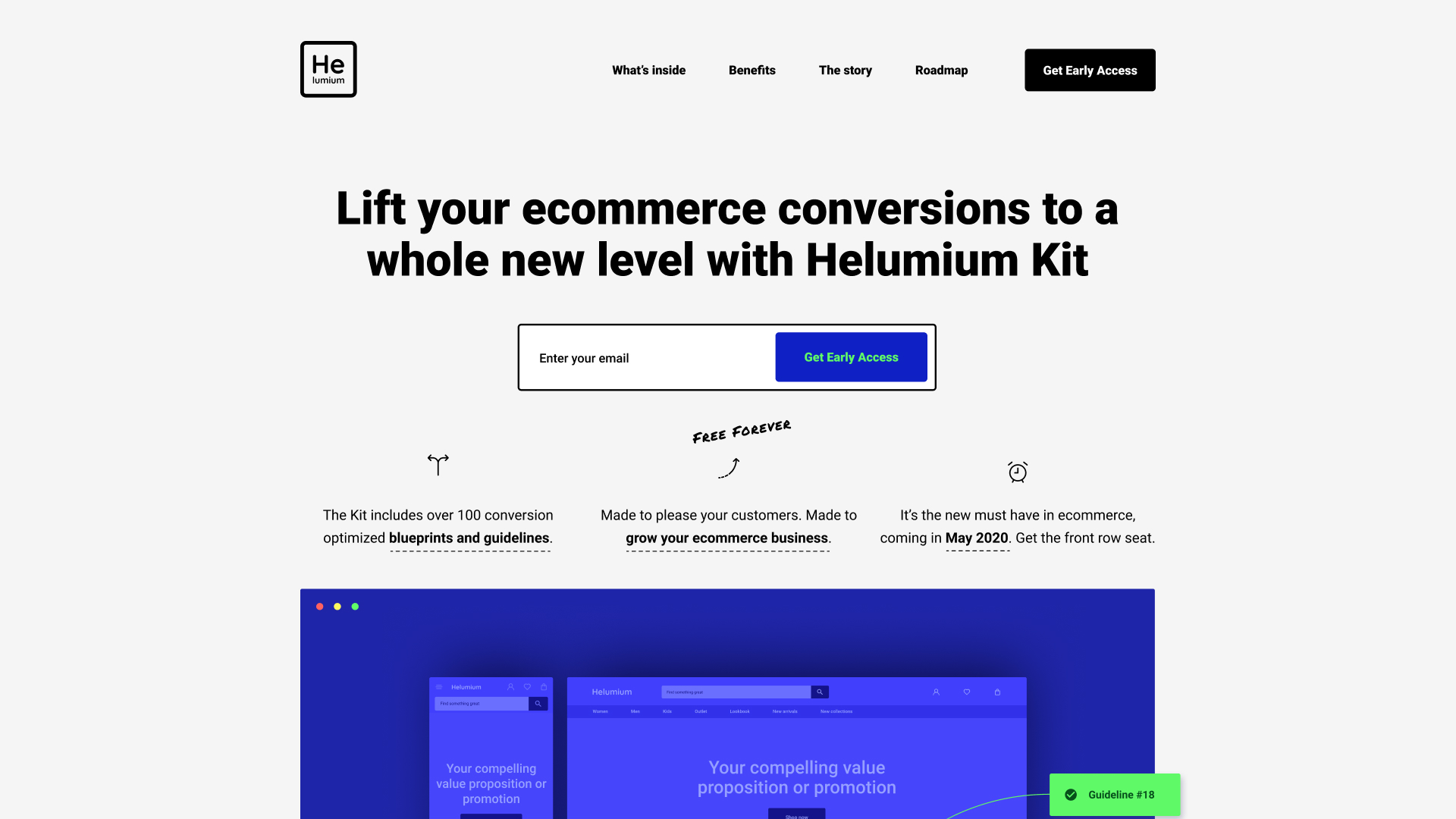 Meet Helumium, world's first ecommerce growth kit that is stuffed with battle-tested and data-backed blueprints and guidelines. And it's free.