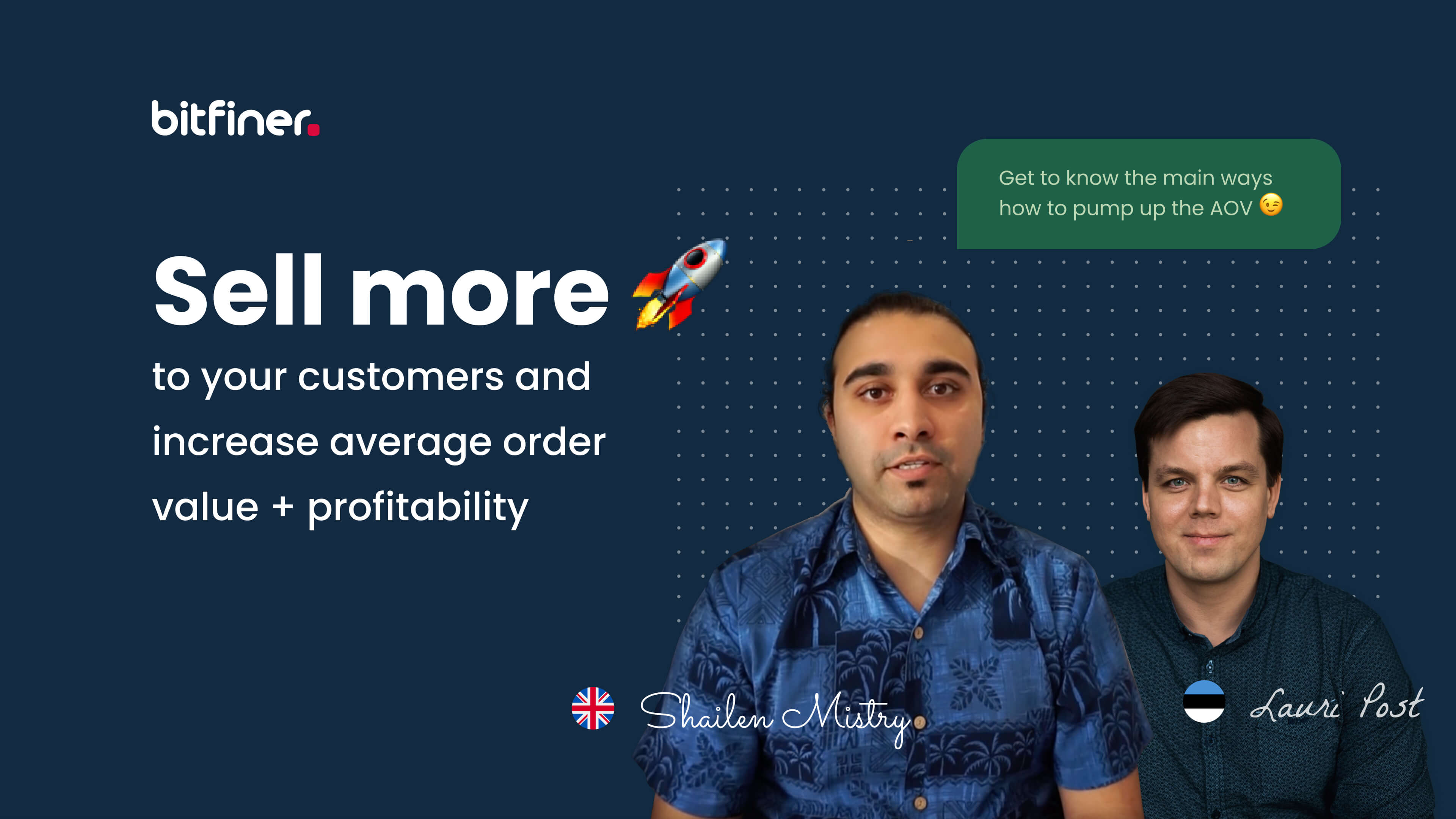 Bitfiner has released a free mini-workshop for eCommerce businesses to help increase their AOV and bottom-line