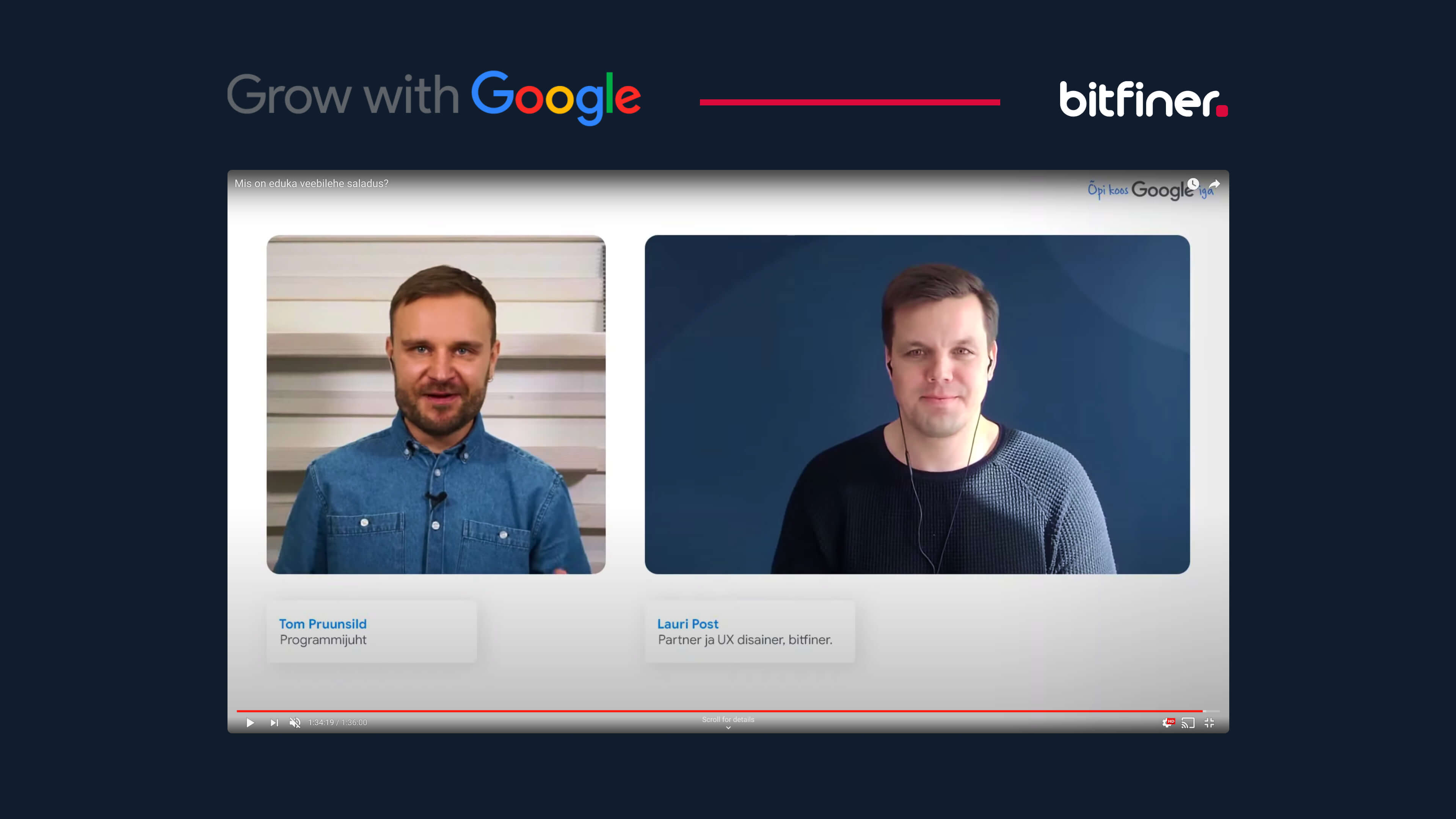 The Grow with Google series was a real success, and Bitfiner trained thousands of people LIVE