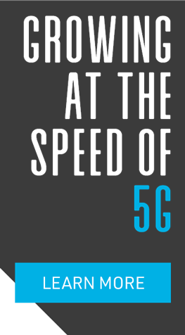 growing at the speed of 5g overlay graphic