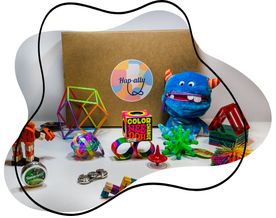 Hap-ally is a monthly subscription toy box for neurodiverse kids aged 3-9 years. Hap-ally monthly subscription delivers therapeutic toys straight to your door every month. Based in Vancouver, BC Canada, Founders are Hassan Ali, Priya Tronsgard and Anam Zaidi
