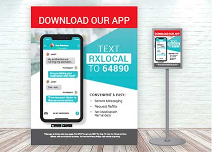 Image of ad for RxLocal mobile app