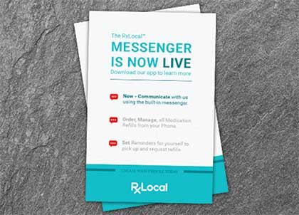 Image of paper on desk from Live Messenger ad from RxLocal