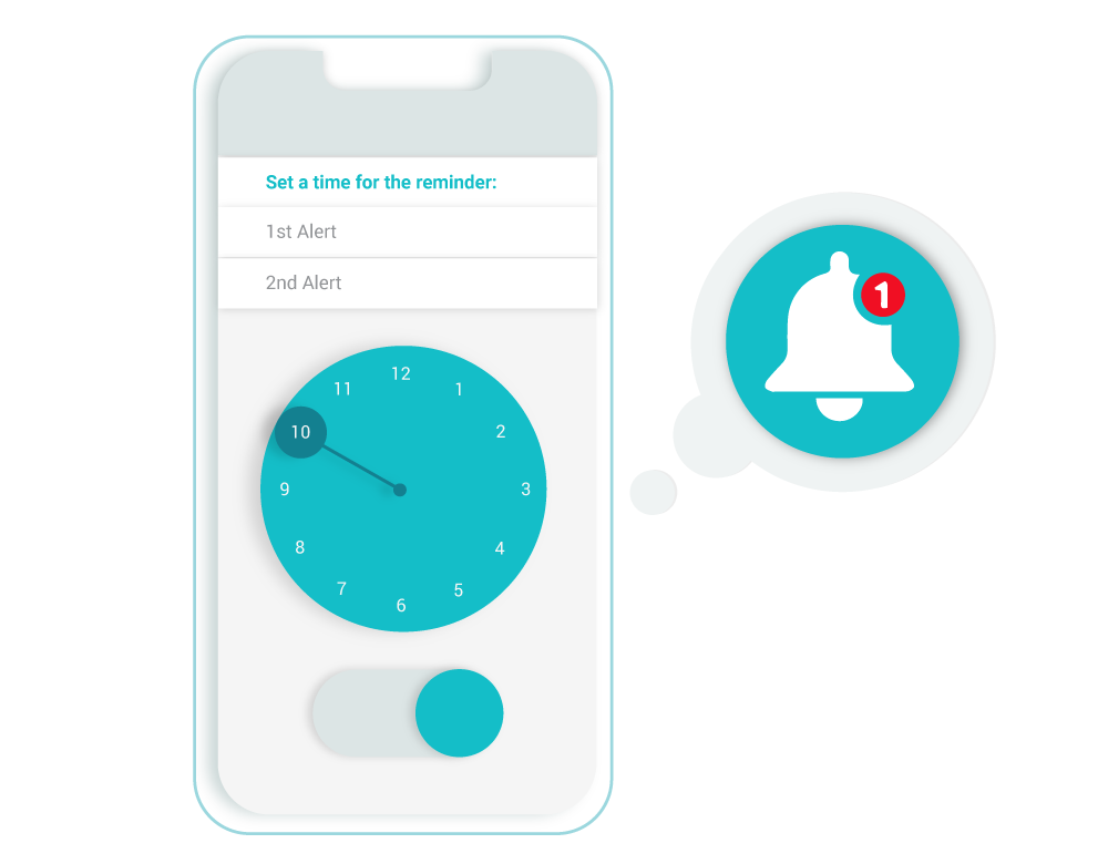 Illustration of reminders screen from the RxLocal app