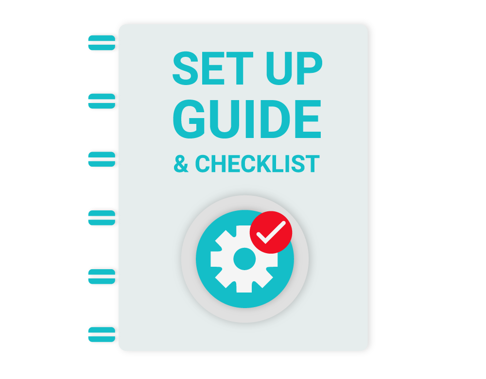 Illustration on setting up guide and checklist