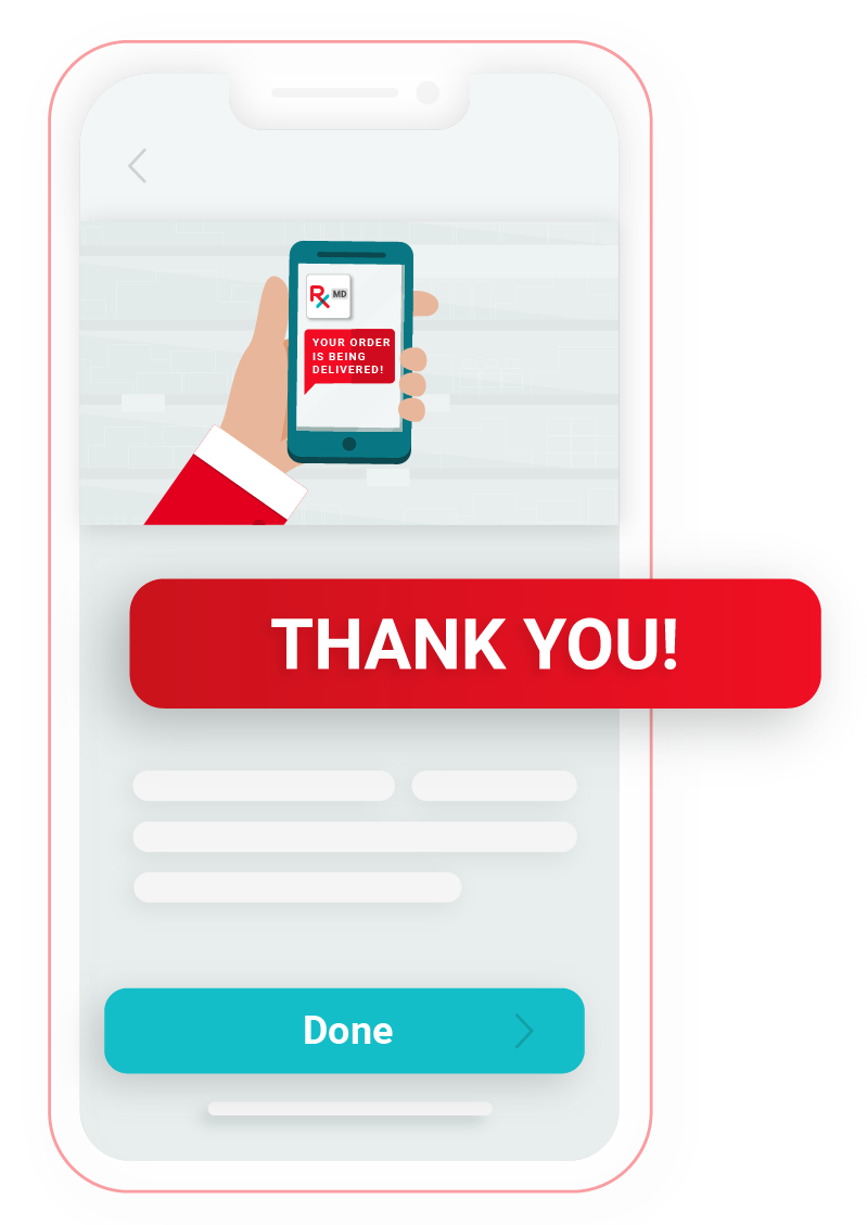 Illustration for Thank You message in RxLocal app