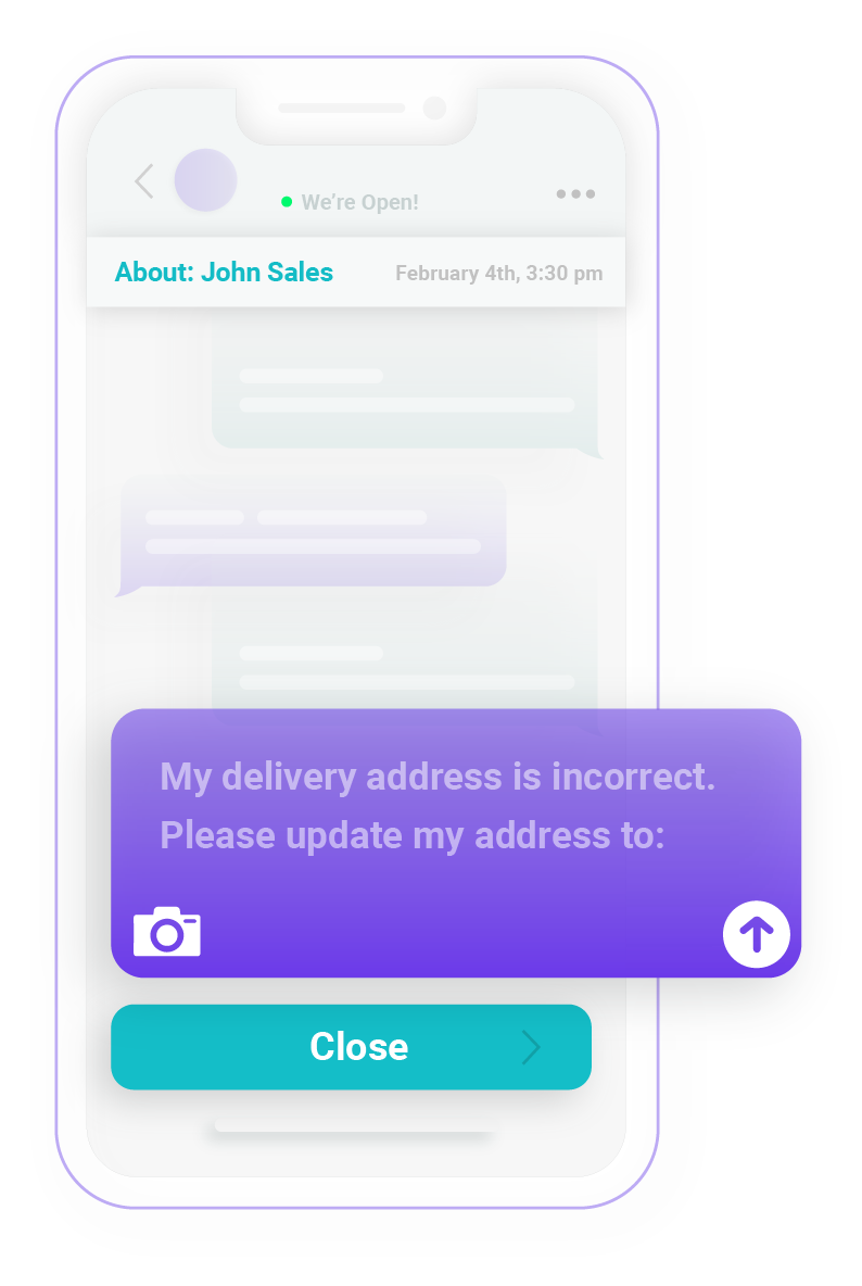 Illustration of delivery message on RxLocal