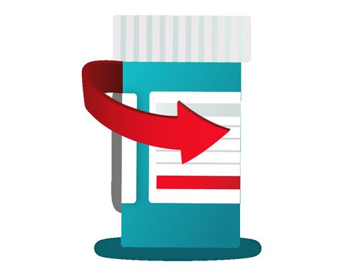 Illustration of refill medications
