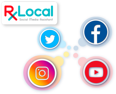 Illustration for RxLocal Social Media Assistant