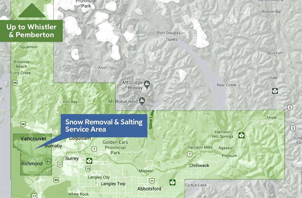 ROCKSOLID SERVICE AREA   Snow Removal & Salting Vancouver and Richmond BC Canada