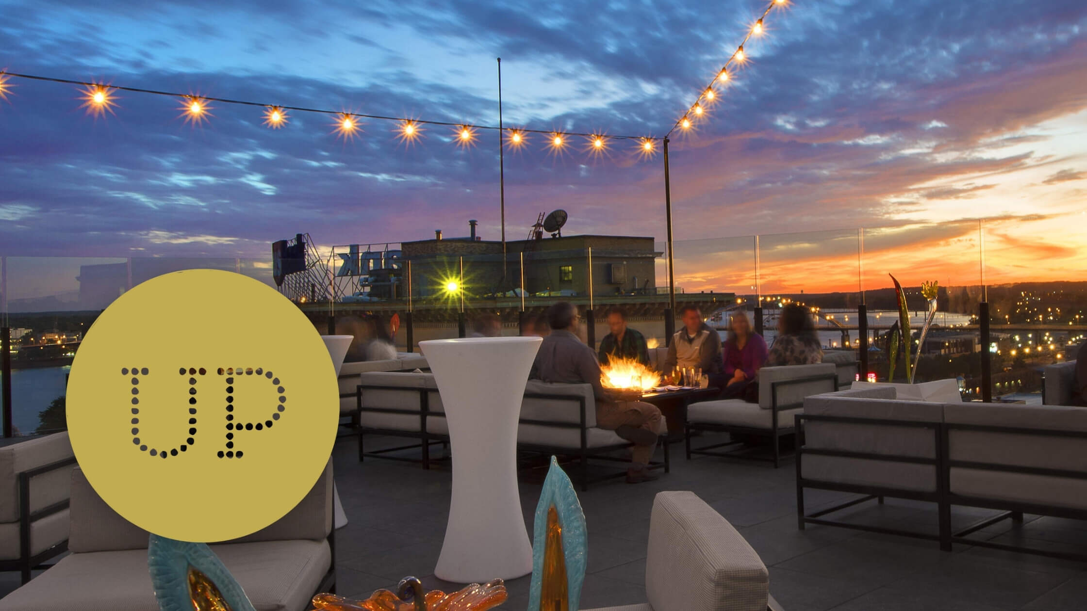 Up skybar commercial hotel blackhawk Davenport, Iowa FitQuest brand strategy and marketing