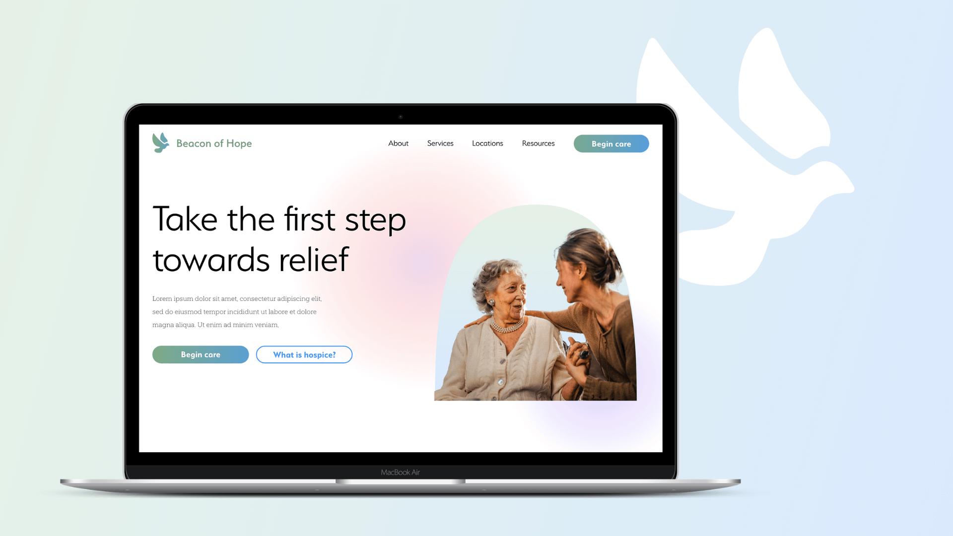Beacon of Hope Hospice web design Fitquest web design and development
