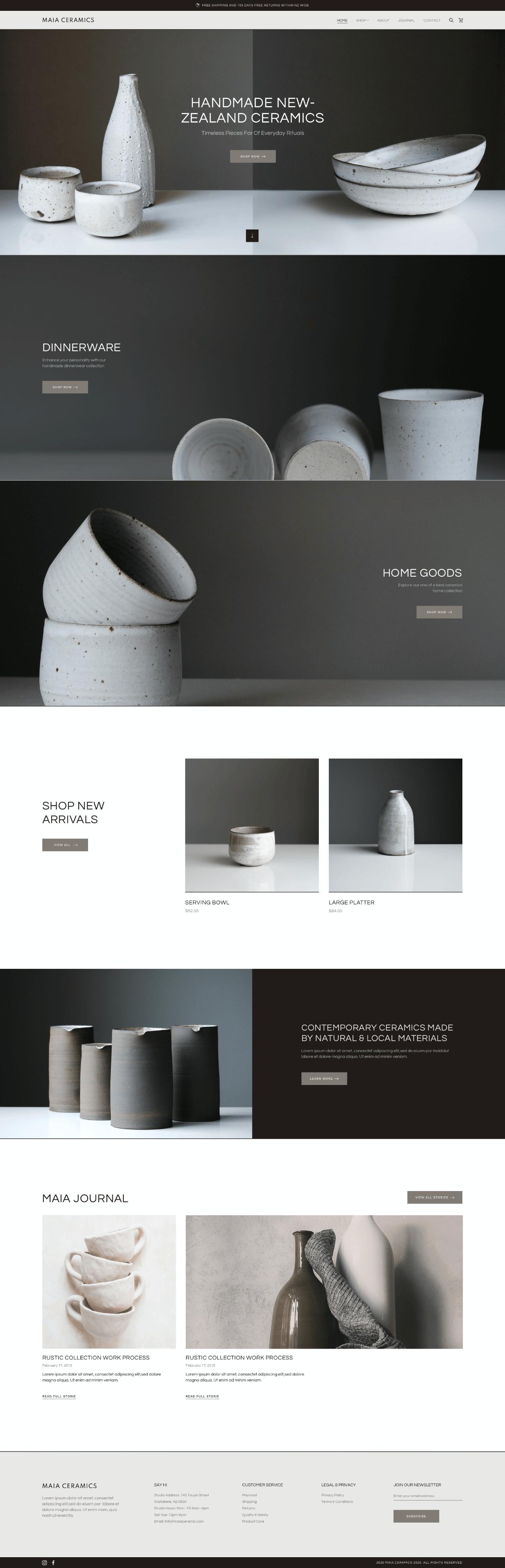 Screenshot of website designed by Mark Gerkules.