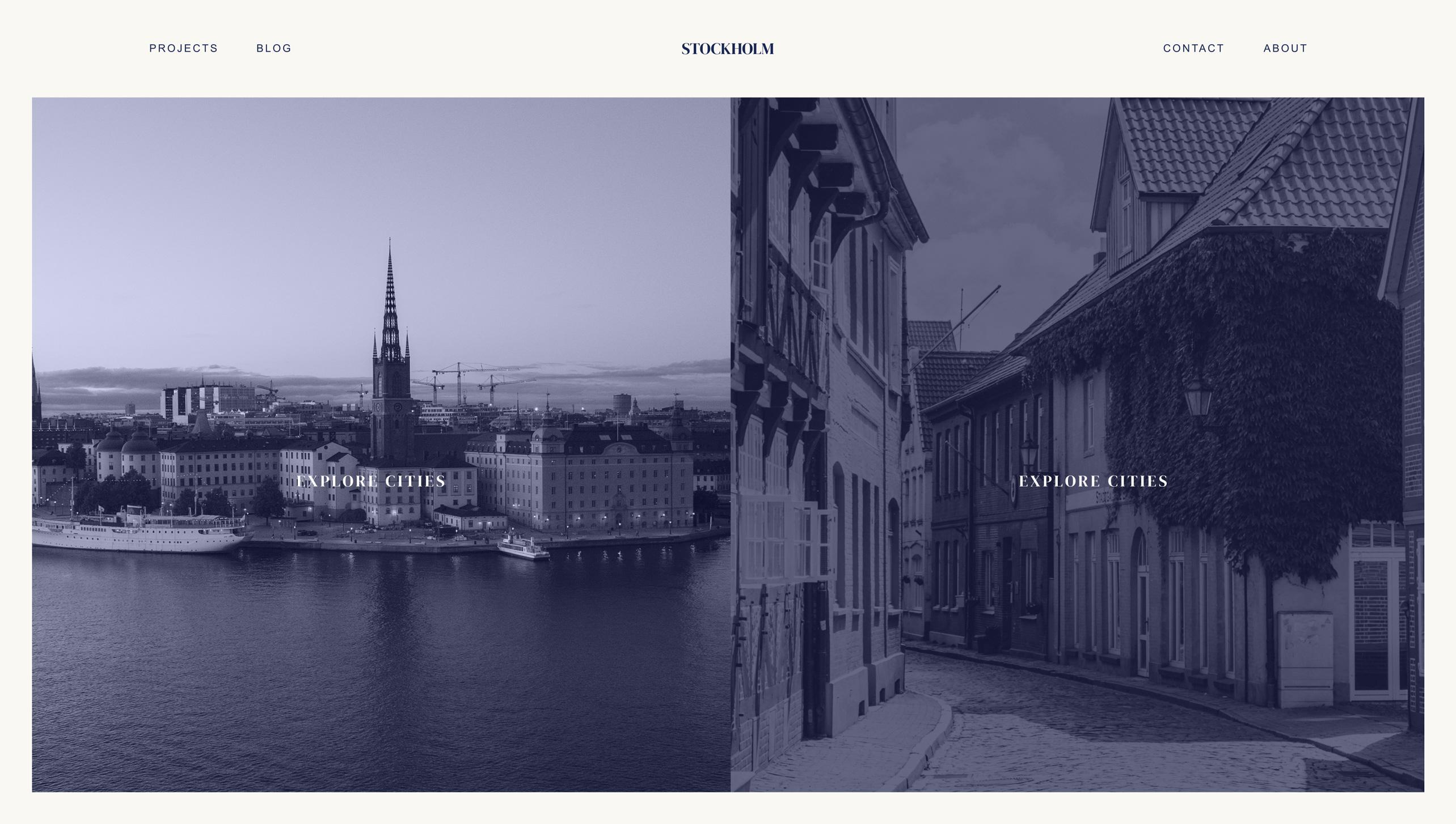 Picture of Stockholm website