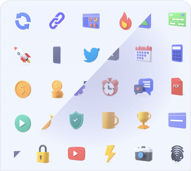 Access and use a huge variety of high quality and cool free 3D icons for Figma.