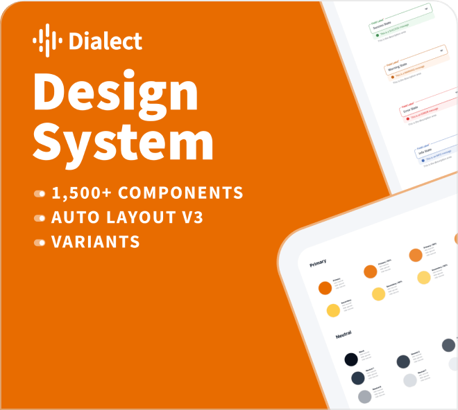 A technical and professional design system kit for advanced users.