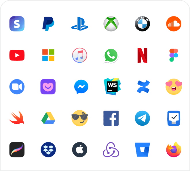 A large set of pixel perfect, vector based brand logos for a huge variety of businesses and websites.