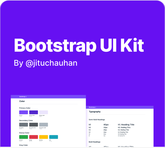 Create beautiful websites using a Bootstrap design system filled with components and layouts.