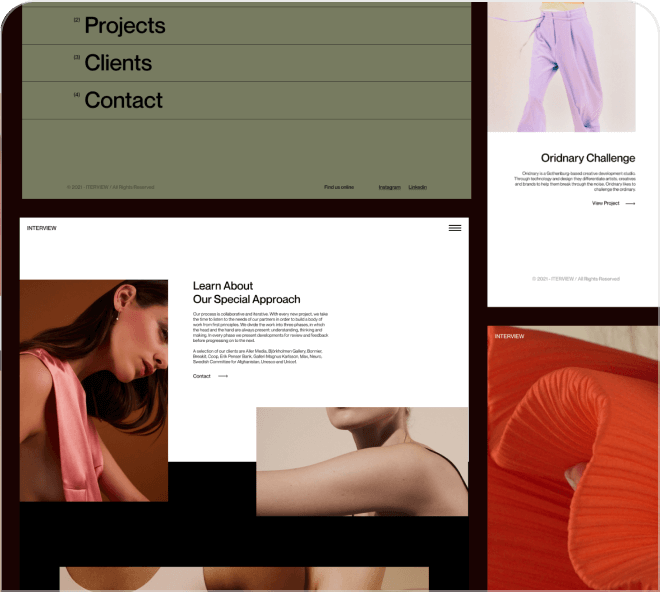A modern, edgy and artistic free Figma landing page design for you to download.