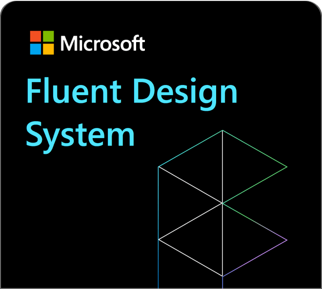 Access Microsoft's official design system named Fluent as a Figma template.
