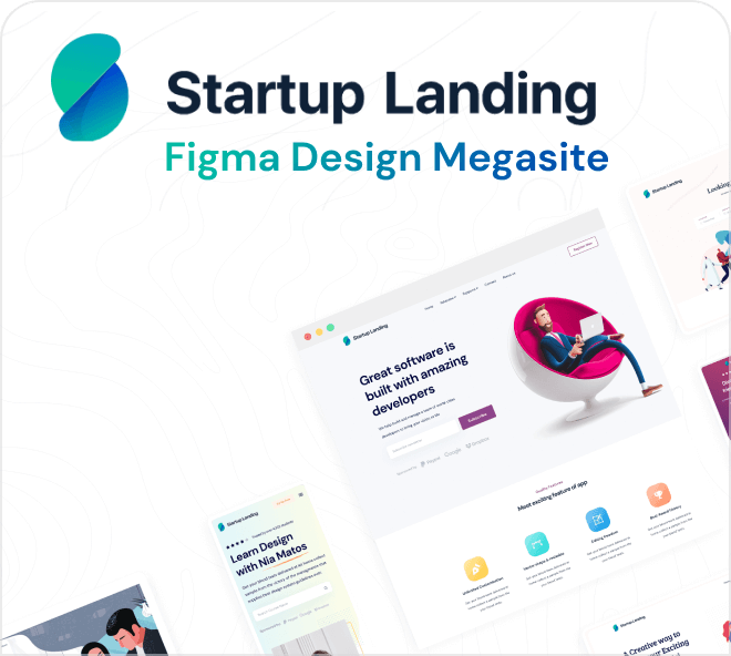 Delve into an amazing array of premium quality free Figma landing pages.