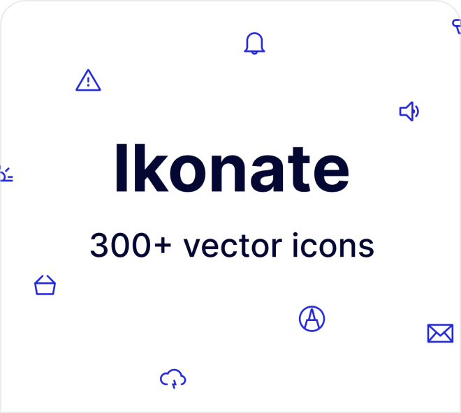 Here's a free set of 300 minimalist line icons that work well across any size, even ultra small.