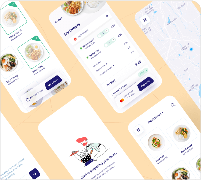 Build your own Uber Eats style app using this great food delivery app design resource.