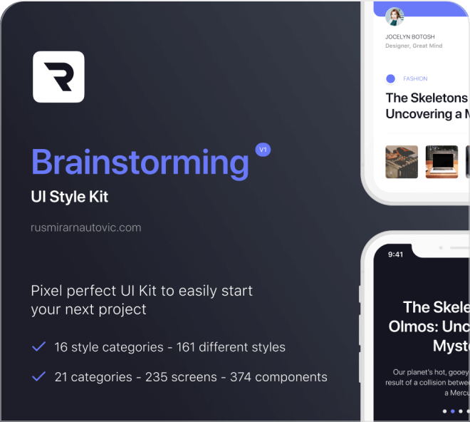 Play with this free design system that's modern and well rounded, visually and figuratively.