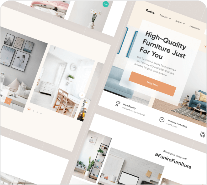 A beautiful and clean free furniture shop landing page for you to play with.
