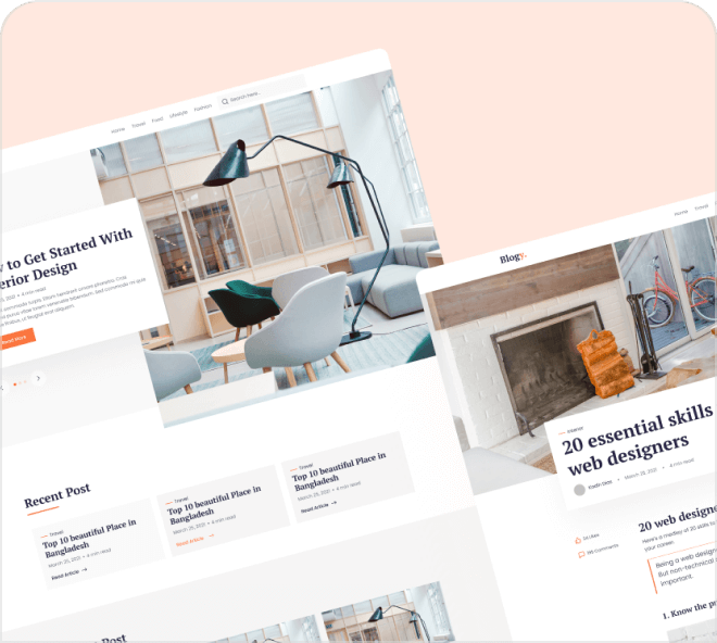 A sublime set of 3 high quality blogging page designs.