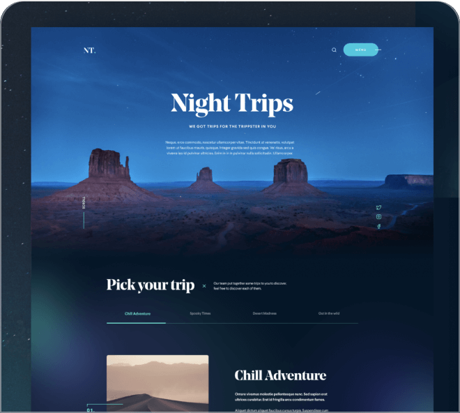 A bold and vibrant free Figma landing page using the new Aurora design trend.