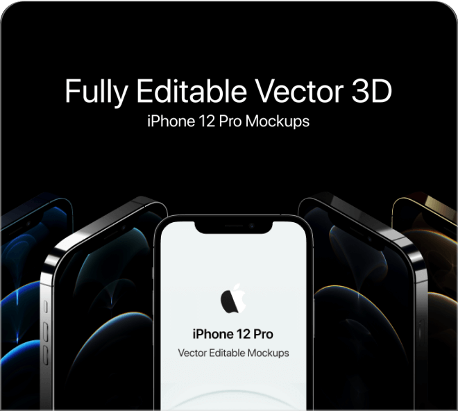 High quality vector iPhone mockups free for your use.