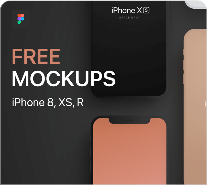 A high quality, beautiful set of colored iPhone mockups for your use.
