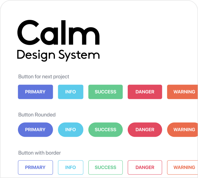 A clean and calm design system for Figma. Create coherent website designs quickly and easily.