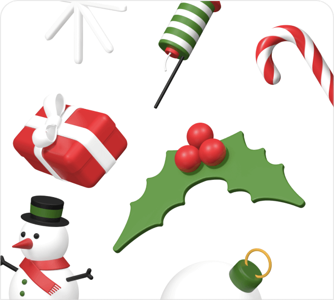 Enjoy this set of bright, fun and free Christmas icons.