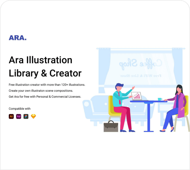 Create quick and simple 2D illustrations for your website.