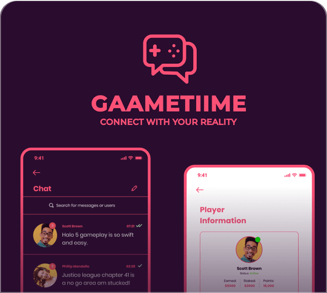 Gametime - Free Figma Gaming App