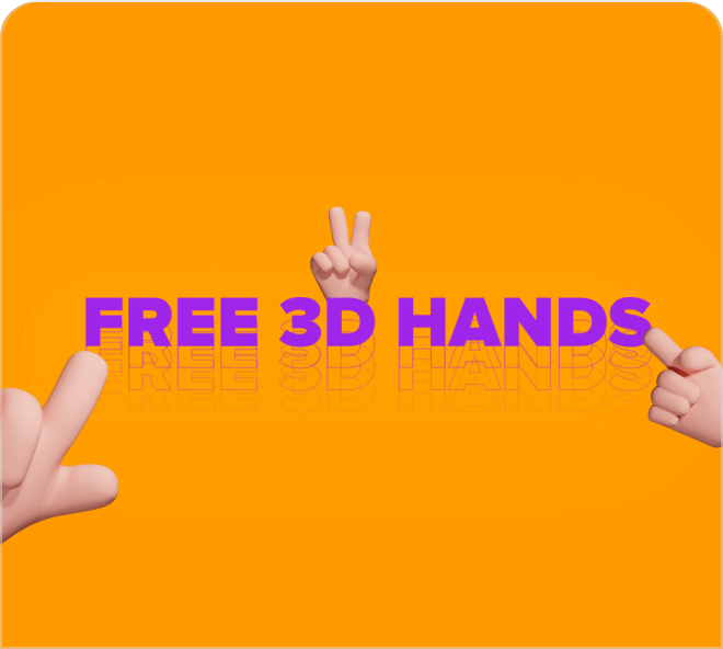A fun collection of 3D hands for all your design needs.